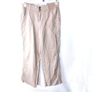 Summer linen blend weekend pant
